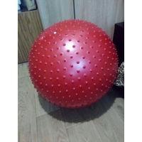 Фитбол массажный 75 см красный