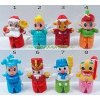Серия игрушек из киндера рождество