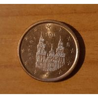 1 евроцент 2016 Испания
