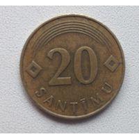 20 сантимов 1992 Латвия
