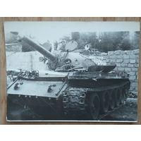 Фото в танке. 1970-80е. 9х12 см
