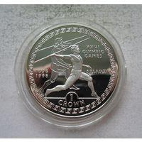 Гибралтар 1 крона 1995 XXVI Летние Олимпийские игры, Атланта 1996 - Метание копья - серебро, нечастая!