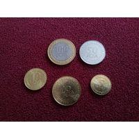 Центральная Африка набор 5 монет UNC