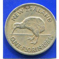 Новая Зеландия 1 флорин 1964