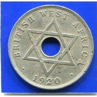 Британская Западная Африка 1 пенни 1920 KN