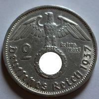 Германия, 2 марки 1937 F (серебро)
