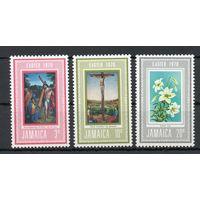 С Рождеством! Ямайка 1970 год серия из 3-х марок