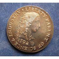 США 1 цент 1792 года медь UNC КОПИИ РЕДКИХ МОНЕТ МИРА