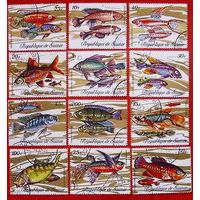 Гвинея. Рыбы. ( 12 марок ) 1971 года.
