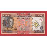 ГВИНЕЯ. 1000 франков 2010. Юбилейные. UNC. 761822  распродажа