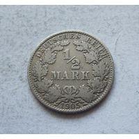 Германия 1/2 марки 1905 G (Карлсруэ)