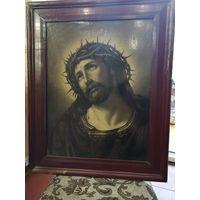 КРАСИВЕЙШАЯ Икона ИИСУС БОЛЬШОГО РАЗМЕРА АУКЦИОН С 1 РУБЛЯ ВСЕГО 5 ДНЕЙ