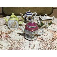 Чайник Коллекционный миниатюра 4 шт Англия