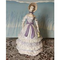 Статуэтка Дама в Кринолине Лавандовый цвет Royal Worcester Редкая! Англия винтаж