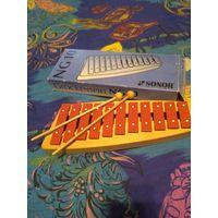 """Ксилофон немецкий со сказочным звуком  """" Sonar"""" 30 смХ12см.Качество! Звук!Единственный на аукционе. Збс"""