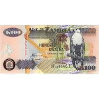 Замбия, 100 квача, 2006 г., UNC