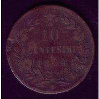 10 чентезимо 1894 год Италия