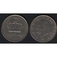 Норвегия km419 1 крона 1975 год (AB) (h07)