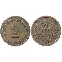 YS: Германия, Рейх, 2 пфеннига 1915A, KM# 16 (2)