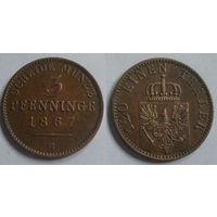 3 пфеннига 1867