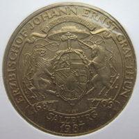 Австрия 20 шиллингов 1987 г. 300 лет со дня рождения Зальцбургского Архиепископа графа Туна. В холдере (g)