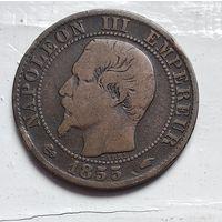 """Франция 5 сантимов, 1855 """"A"""" - Париж 3-12-1"""