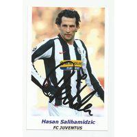Hasan Salihamidzic(Juventus, Италия). Живой автограф на фотографии.