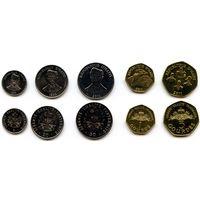 Гаити 5, 20, 50 сантимов 1, 5 гурдов 1995, 1997, 2011 г.