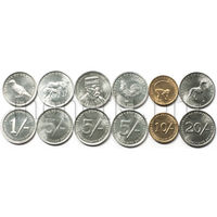 Сомалиленд 6 монет 1994-2005 годов. Животные