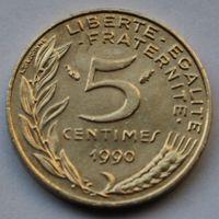 Франция, 5 сантимов 1990 г