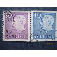 Марки Швеция 1962-1964 годы Король Густав VI Адольф