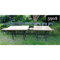 Комплект мебели 9 Стульев и 2 Стола ДУБ / КОВКА / ВЕЧНЫЕ. (ЦЕНА СНИЖЕНА!!!)