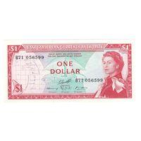 Восточно-Карибские штаты 1 доллар образца 1965 года. Редкая! Состояние aUNC+!