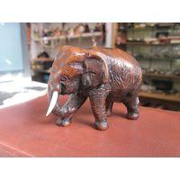 Слон, керамопластик, 7х10 см.