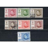Дания Гренландия автономия 1973-84 Маргрете II Стандарт #84-5,101,106-7,112,114