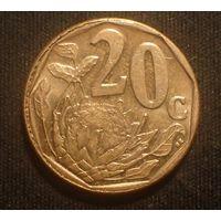 Южная Африка. ЮАР. 20 центов 2015 год