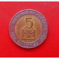58-05 Кения, 5 шиллингов 1997 г.