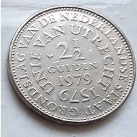 Нидерланды 2.5 гульдена, 1979 400 лет Утрехтской унии 4-12-2