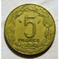 Центрально-Африканские штаты 5 франков 1985 г.