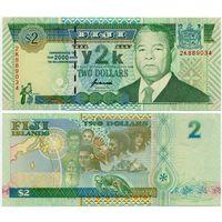 Фиджи. 2 доллара (образца 2000 года, P102, UNC)