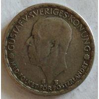 Швеция 1 крона 1949 серебро