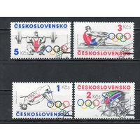 XXIII летние Олимпийские игры в Лос-Анжелесе Чехословакия 1984 год серия из 4-х марок