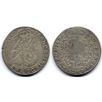 Орт 1668 TLB, Ян II Казимир Ваза. Вариант с гербом Слеповрон в щите на Ав.