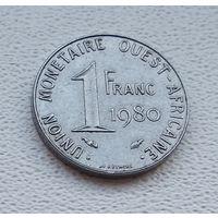 Западная Африка (BCEAO) 1 франк, 1980  8-11-10