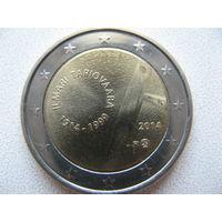 Финляндия 2 евро 2014г. 100 лет со дня рождения Илмари Тапиоваара. (юбилейная) UNC!