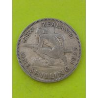 Новая Зеландия 1 шиллинг 1935г серебро