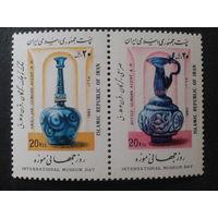 Иран 1988 межд. день музеев сцепка