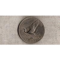 Новая Зеландия 1 доллар 1974/фауна/АИСТ//(Li)