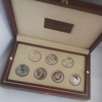 """Набор монет (медалей) """"Чудеса света"""", серебро"""