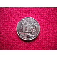 Каймановы острова 25 центов 2002 г.